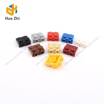 10PCS 99206 Plate Special 2x2x0.667 with Two Studs OnSide and Two Raised Building Blocks Parts MOC  DIY Education Build Toys
