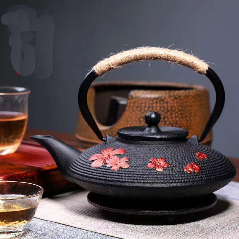 900 مللي زهر الكرز أزهار براد شاي إبريق الشاي اكسسوارات الشاي طقم شاي ديكور المنزل للأصدقاء الأسرة عشاق الشاي الزفاف