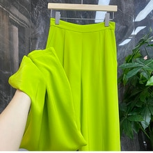 Women's Clothes In Summer Big Long Legs Pants And Fashionable Acetic Acid Wide Leg Pants