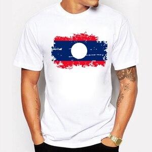2020 Laos Flag Men T shirts Summer Fashion Short Sleeve Brand Design T-shirts For Men Funny Laos Tshirt Clothing