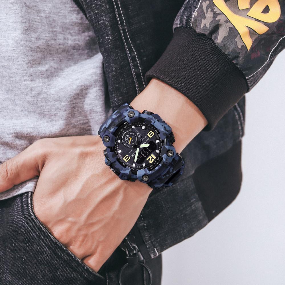 5pcs/lot SKMEI 3Time Men's Watch Sport Luminous Shockproof Large Dial Men Quartz Wristwatch relogios masculino 1637 enlarge