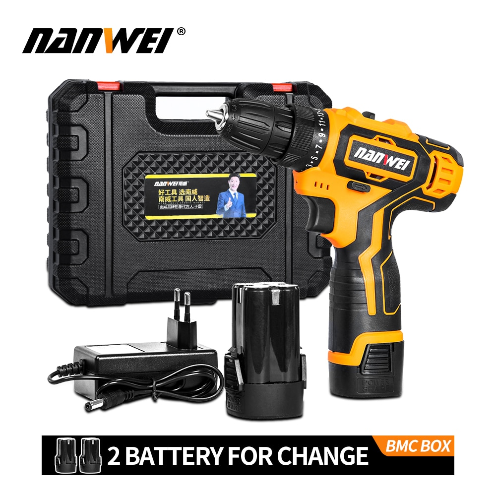 12V18V 42VF Electric Screwdriver Mini Wireless Power Driver DC Lithium-Ion Battery 3/8-In
