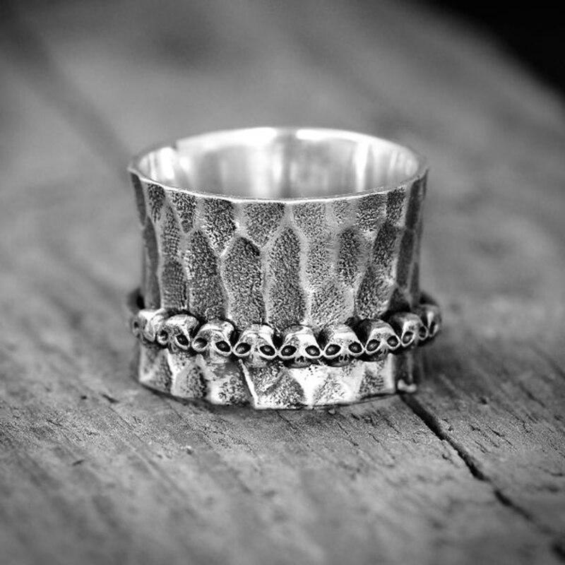 Retro gótico punk rock anéis para homens crânio pires homem modelagem masculino jóias dedo acessórios personalidade festa jóias 30m790