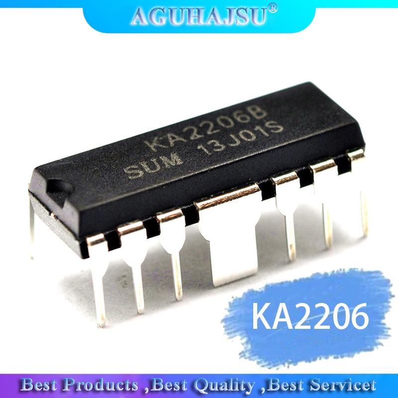 1 pcs ka2206 ka2206b amplificador de áudio chip dip-12 original novo