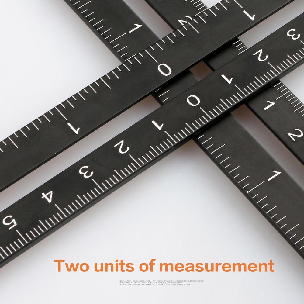 Tile Hole Locator Adjustable Tool Masonry Glass Fixed Angle Measuring Ruler Universal Angular Template  4/6/12 slides/fold