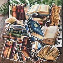 Pegatinas Vintage para libros, 15 unidades, álbum de recortes DIY, diario de basura, planificador feliz, pegatinas decorativas