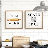 Affiche et imprimes dart de decoration murale de salle a manger  toile carree de cuisine  peintures dimages Vintage pour la decoration de la maison