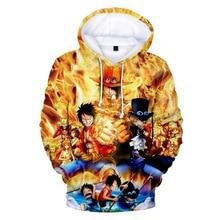 Neue 3D One Piece Anime Hoodies Männer Jungen pullover Mit Kapuze Mode Lose Lange Hülse 3D Print One Piece Hoodies Sweatshirts