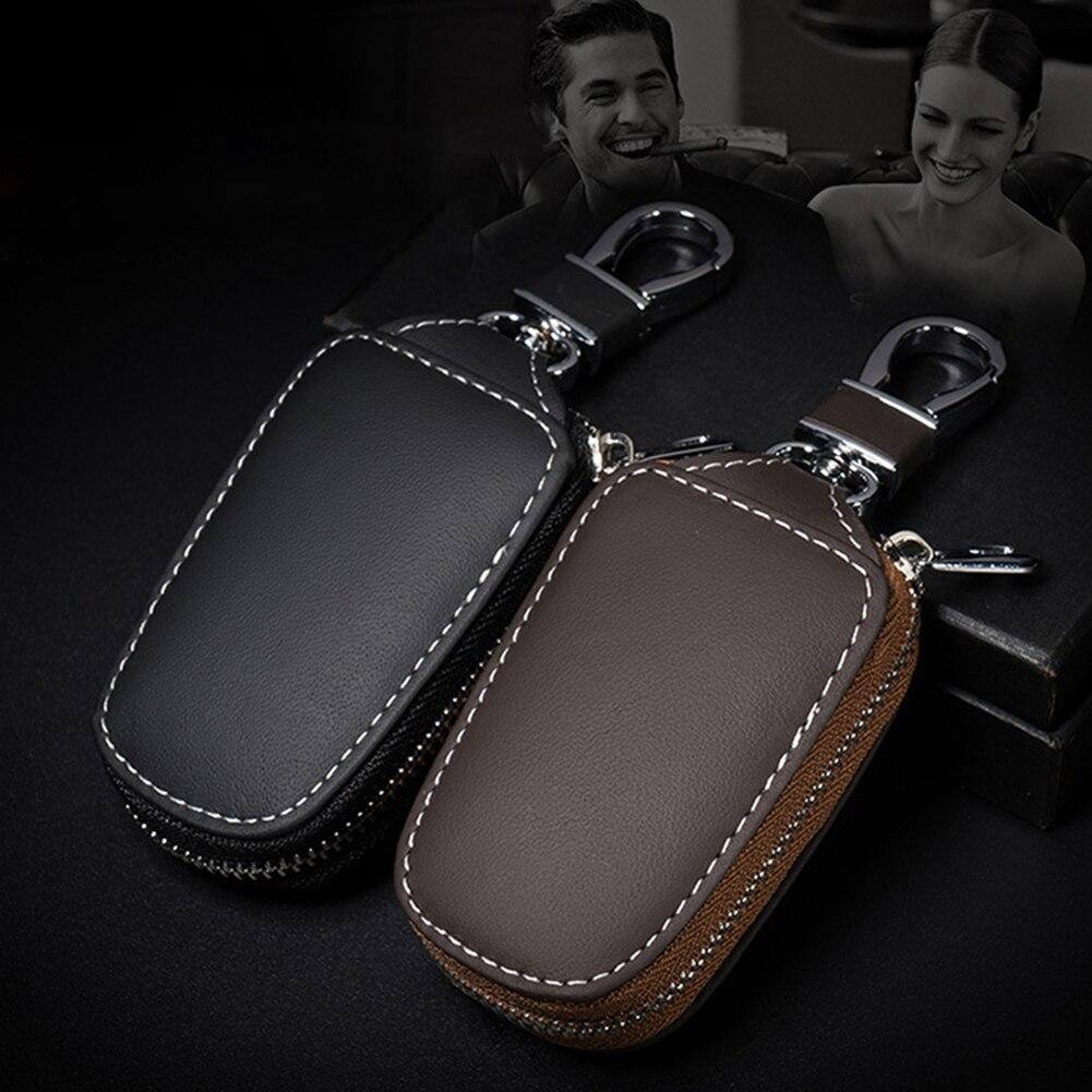 Универсальный чехол для автомобильного ключа ручной работы кожаный защитный чехол для автомобильного ключа дистанционного управления на ...