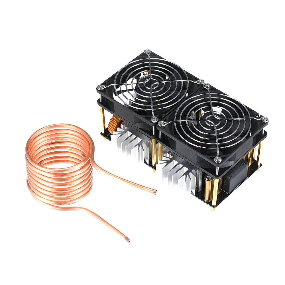 1800W 40A 12V-48V ZVS Módulo de placa de calentamiento de inducción DIY Flyback Driver calentador buena disipación de calor con accesorios de bobina