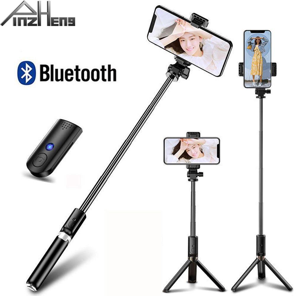 Palillo de Selfie inalámbrico Bluetooth Para iPhone Xiaomi Huawei plegable trípode monopié obturador remoto extensible palo de Selfie