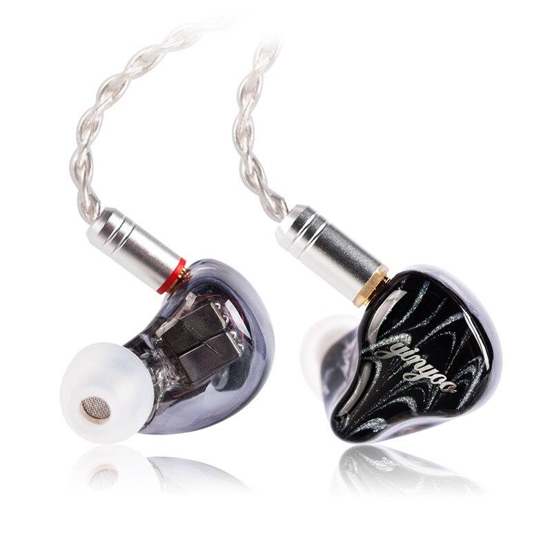 Yinyoo-سماعة رأس هجينة HX6 5BA 1DD ، سماعات أذن ، سماعات أذن مخصصة ، مشغل BA ، HIFI ، DJ ، مع كابل قابل للفصل