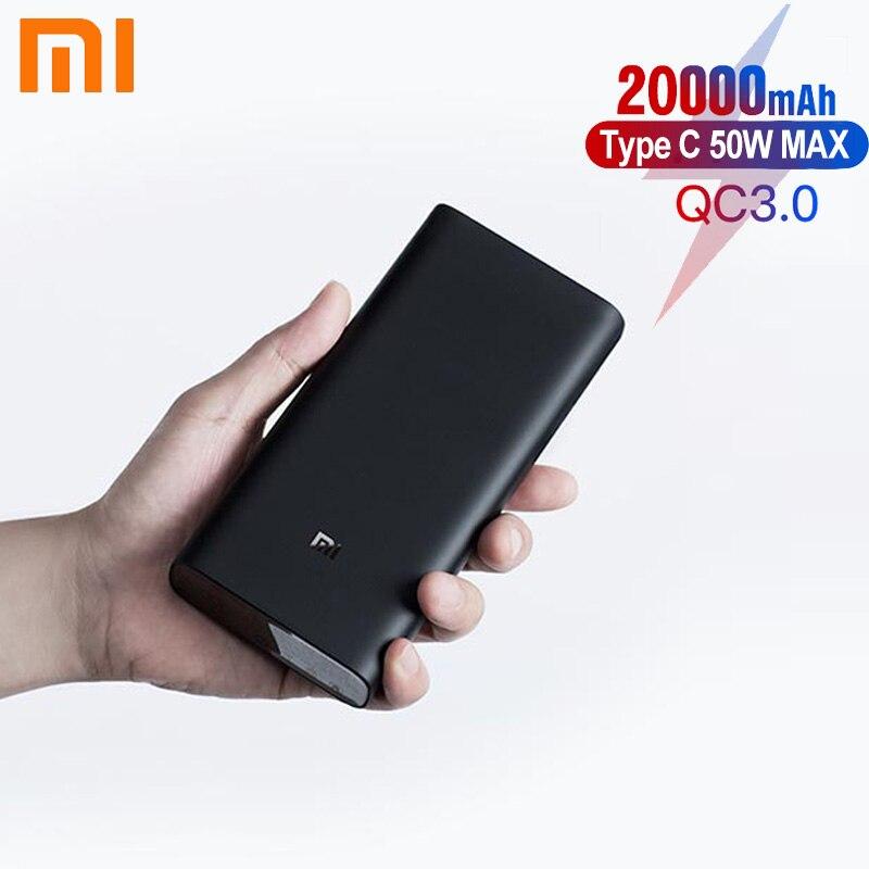 شاومي باور بانك 3 20000mAh PLM07ZM 3 USB Type C 45 واط شحن سريع محمول Mi Powerbank 20000 بطارية خارجية Pover bank
