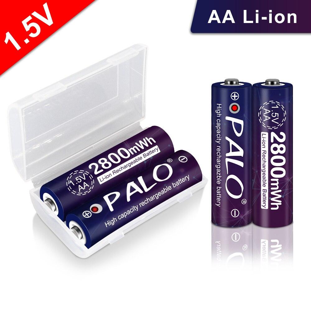 PALO tension Stable 2800mWh AA batteries 1.5V batterie rechargeable lithium li-ion polymère batterie pour caméra ect