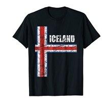 Modische 2018 Sommer Casual T-Shirt Hipster Fractal Muster Tees Island Soccers Jersey Hemd Icelandic Verrückte T Shirts