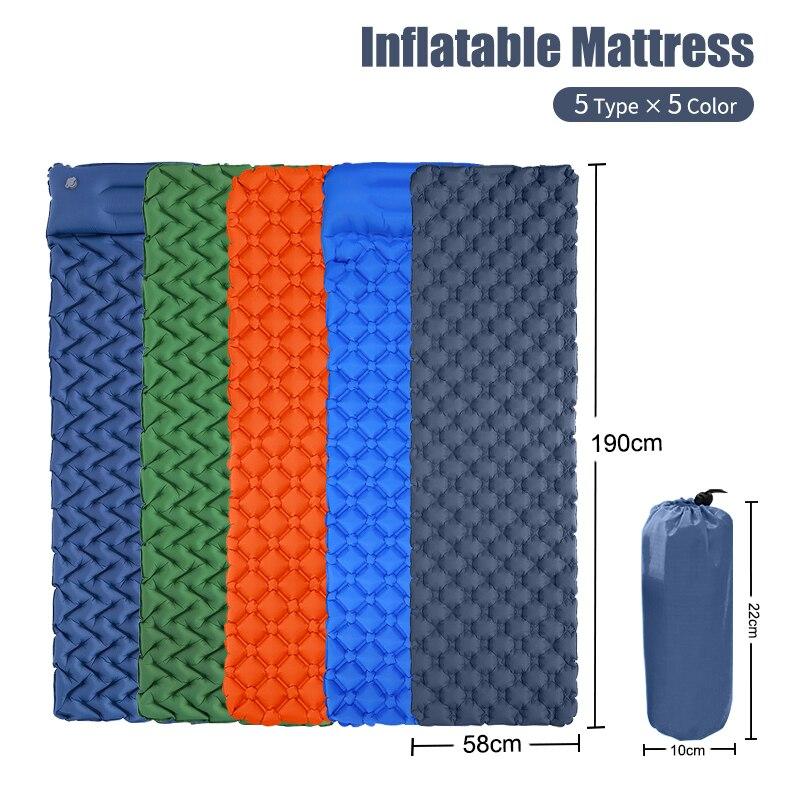 Barraca ao ar livre colchão inflável esteira de acampamento ultra-leve portátil à prova de umidade esteira único tpu colchão inflável