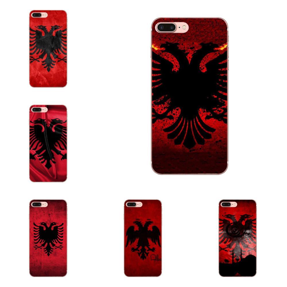 El Islam Alá Albania bandera suave para Galaxy Nota 10 A10E A10S A20S A30S A40S A50S A6S A70S A730 A8S M10S M30S Lite Plus TPU casos