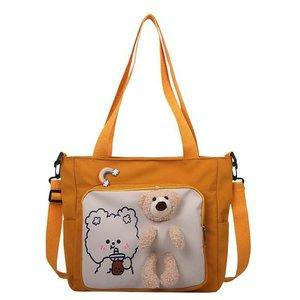 New Preppy style women Brand bags Cartoon Bear cross body bag woman Fresh Girls cute bag Korean Fashion Students kawaii bag