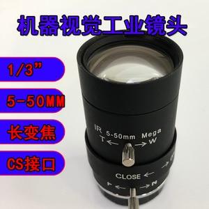 5-50mm Industrial Camera Lens Manual Aperture 1/3 Target Surface Zoom Lens Machine Vision Ccd Lens