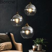 Modern Glass Pendant Lights Nordic Led Fashion Hanging Lamps for Living Room Kitchen Bar Light Fixtures Creative Decor Luminaire