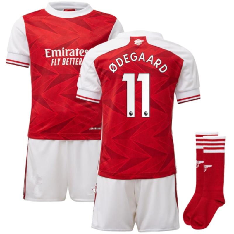 new adults kit new TORREIRA LACAZETTE BELLERIN SAKS XHAKA AUBAMEYANG OZIL LACAZETTE GUENDOUZI PEPE 2020 2021 ArsenalES shirt