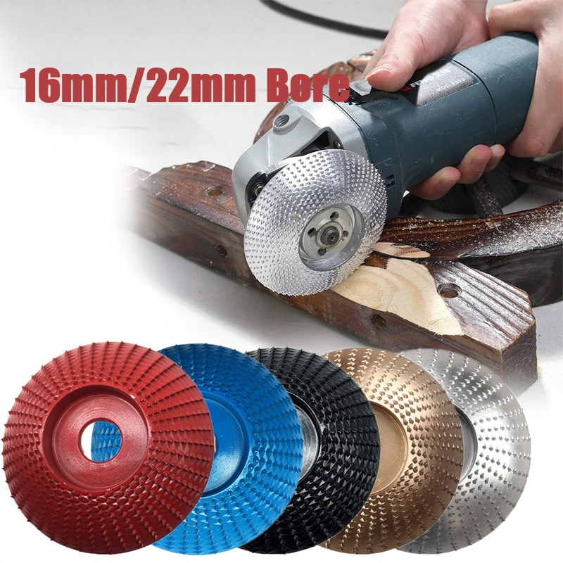 16mm 22mm Bore Wood Grinding Polishing Wheel Rotary Disc Sanding Wood Carving Tool Abrasive Disc Tools For Angle Grinder