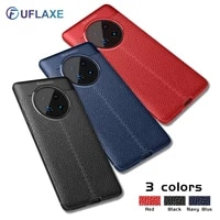 uflaxe soft silicone shockproof case for huawei mate 30 40 pro plus lite litchi texture ultra thin cover