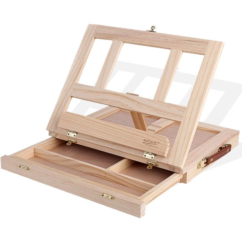 Tablero de dibujo de caballete de escritorio Mengmate plegable multifuncional de madera