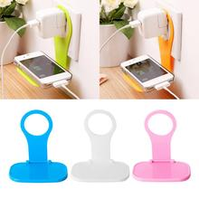 1pc Foldable Mobile Phone Charger Wall Hanger Portable Universal Phone Charging Holders For IPhone Huawei Xiaomi Random Color
