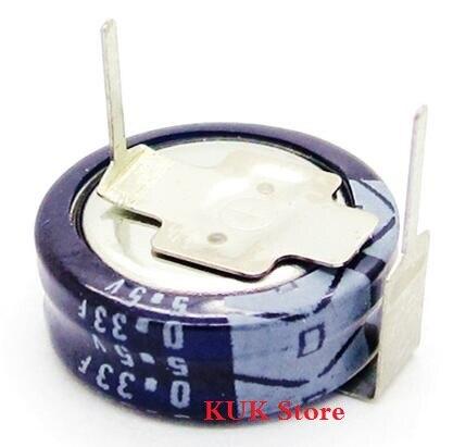 Original 100% nuevo 5,5 V 0.33F importación Super condensador de faradio 10 unids/lote