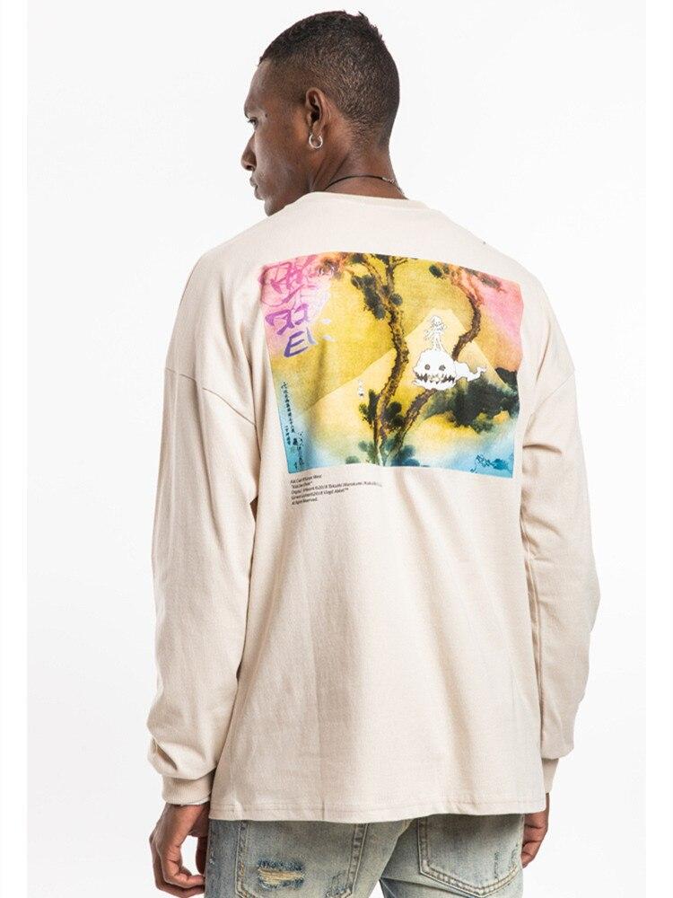 2018SS Топ Kanye West KIDS SEE GHOSTS оверсайз пуловер толстовки хип-хоп повседневные мужские и женские хлопковые толстовки S-XL