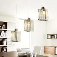 Plafonnier Led suspendu en cristal K9 au design moderne  luminaire decoratif dinterieur  ideal pour une salle a manger  MJ1013