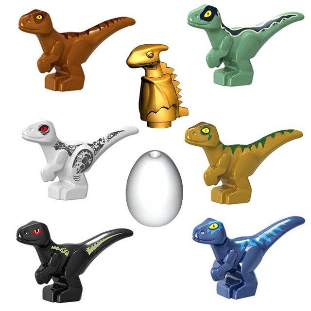 Blocos de construção de dinossauro, 2 peças, brinquedo do mundo jurássico, tiranossauro rex, indoraptor, bebê, dino, blocos de construção, tijolos para crianças