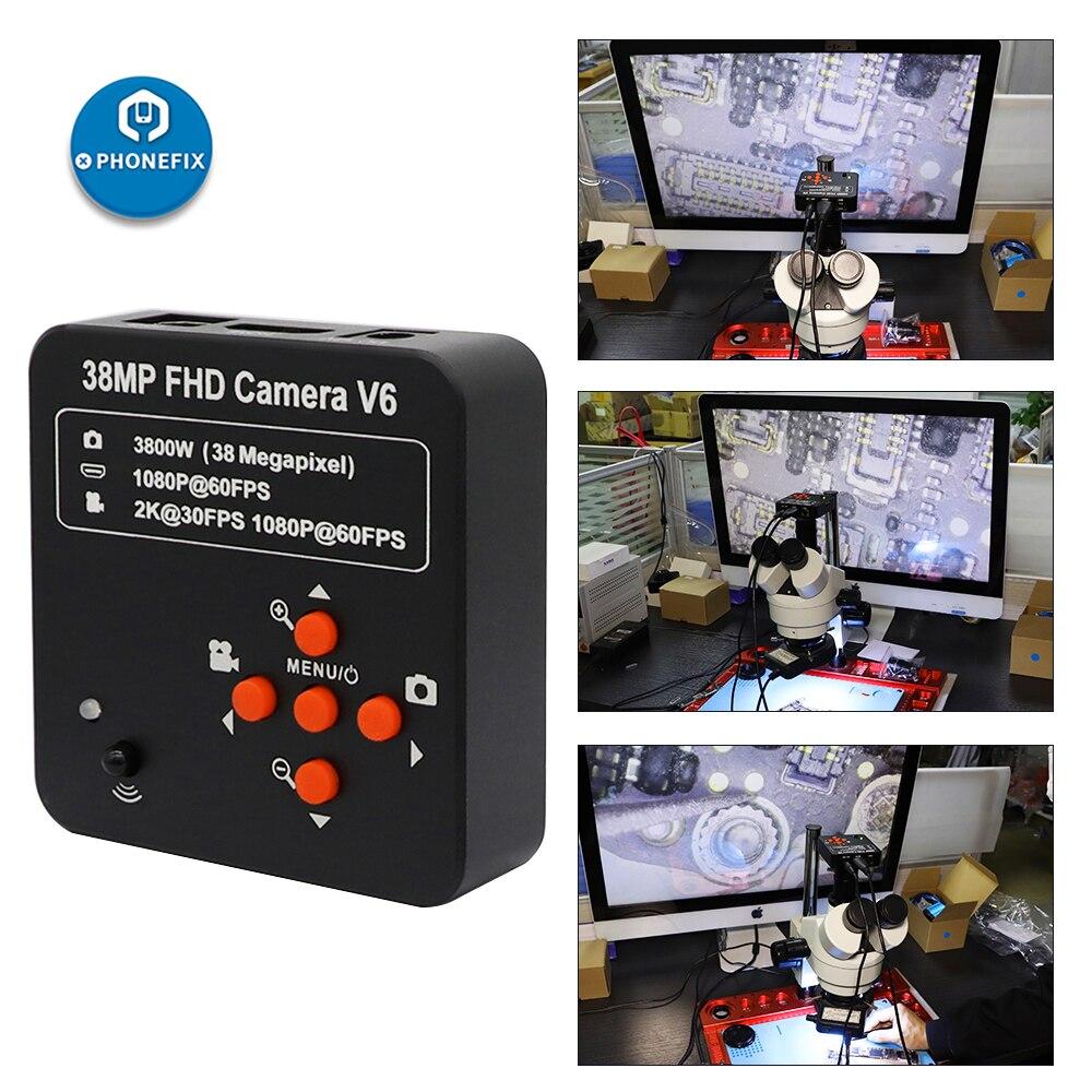 كاميرا فيديو رقمية صناعية 38 ميجابكسل HDMI 1080P 60 إطارًا في الثانية, كاميرا USB C-Mount عالية الدقة للهاتف والجهاز اللوحي والكمبيوتر الشخصي وإصلاح لحا...