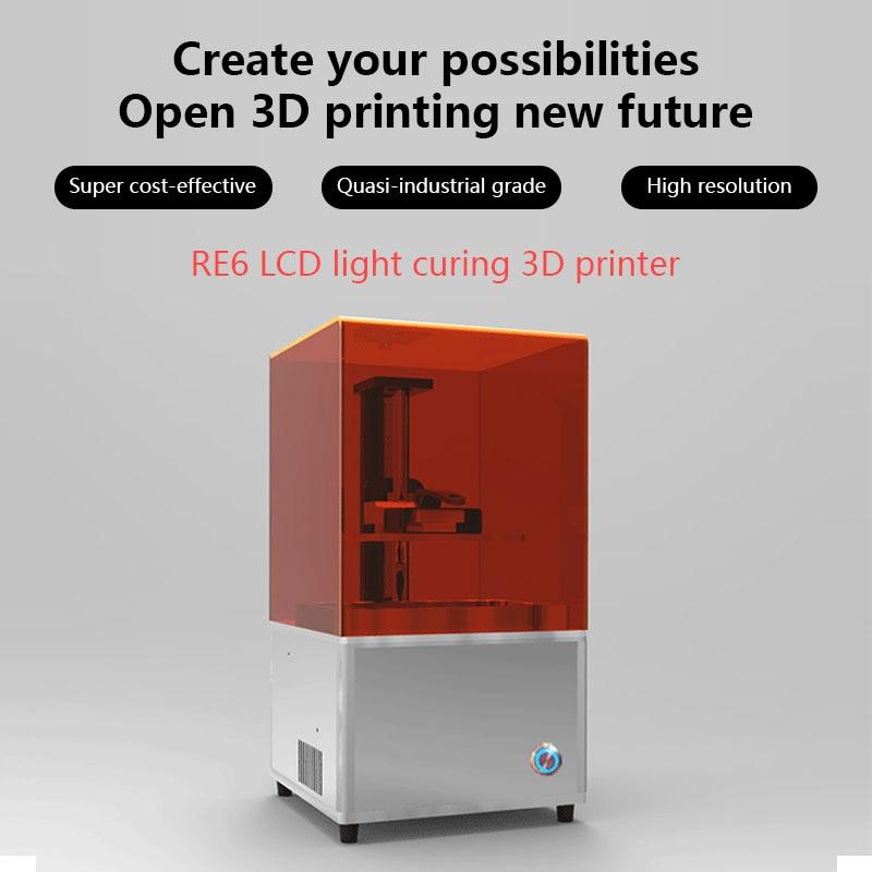 Diy Resin Jewelry Dental 3D Printer LCD 3d printing machine free shipping 2K resolution resin  jewelry wax casting machine