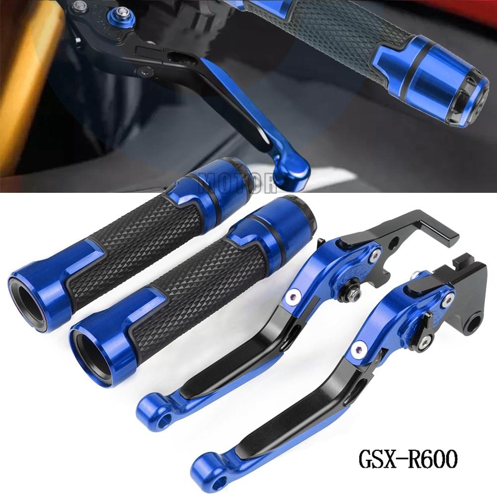 "For SUZUKI GSXR 600 Motorcycle CNC Brake Clutch Lever & 7/8"" 22MM Handlebar Grips GSX-R600 1997 1998 1999 2000 2001 2002 2003"
