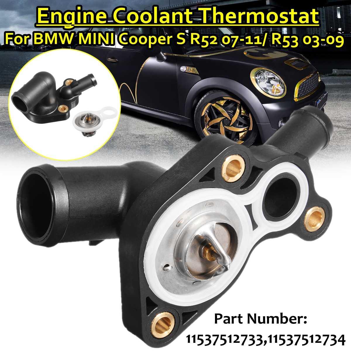 Termostato de refrigerante del radiador y Kit de carcasa 11537512733 11537512734 para Bmw para Mini Cooper R52 R53 1.6L 2003 2004 2005-07 2009