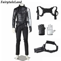 adult halloween carnival captain cosplay winter bucky costume superhero soldier james outfit fancy armor harness outfit