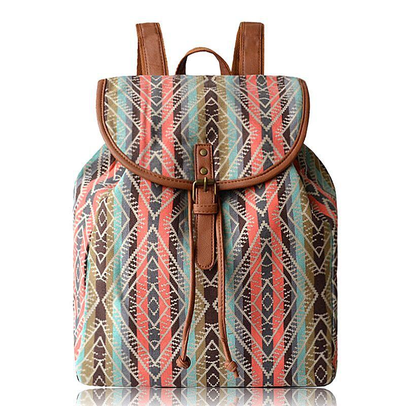 LILY QUEEN Women Backpack Vintage Canva For Teenagers Shoulder Bag Travel Bagpack Rucksack Bolsas Mochilas Femininas