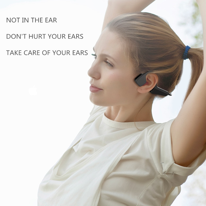 Bone Conduction Headphones Bluetooth wireless Sports Earphone IP56 Headset Stereo Hands-free with microphone For Running enlarge