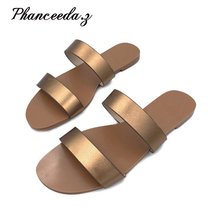 Sandalias de estilo veraniego para mujer, sandalias de corcho, sandalias informales con hebilla de alta calidad, sandalias Flip flops de talla grande 6-11 Free S 2020