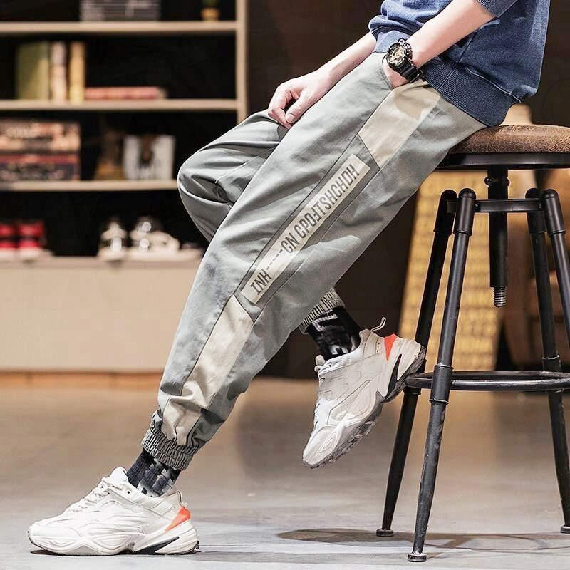 Fashion Cargo Pants Men Trousers Harajuku Streetwear Loose Casual Harem Sweatpants Breathable Dance Hip Hop Pants Male