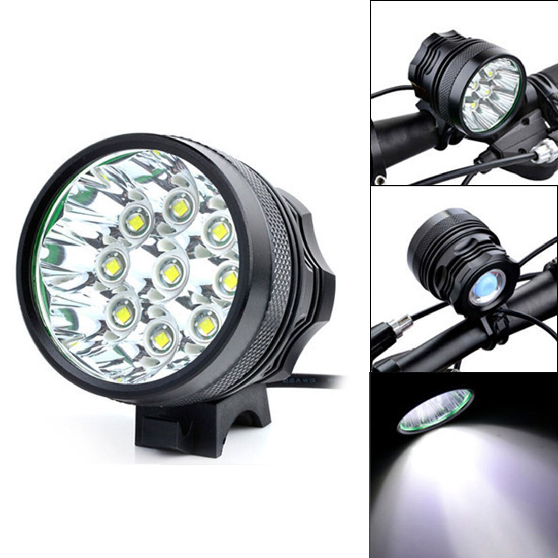 SecurityIng Bicycle Headlights XM-L T6 LED Camping Fishing  Cycling Flashing Light Lamp Waterproof 18650 Battery  Bicycle Lights