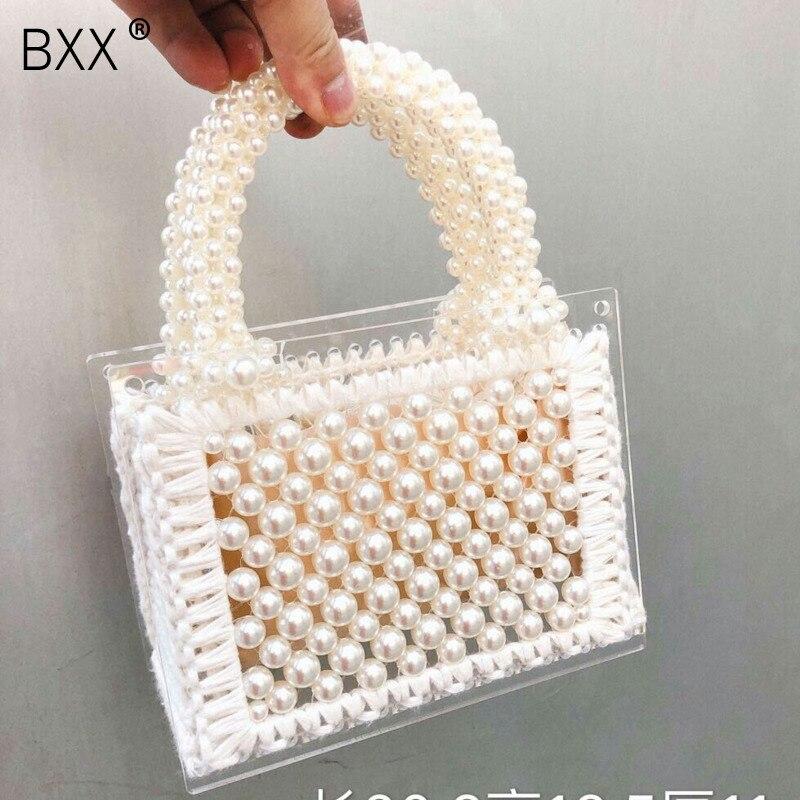 [BXX de mujeres bandolera de un solo hombro todo-fósforo solapa 2020 moda de perla de gran capacidad bolso de embrague fiesta HI262