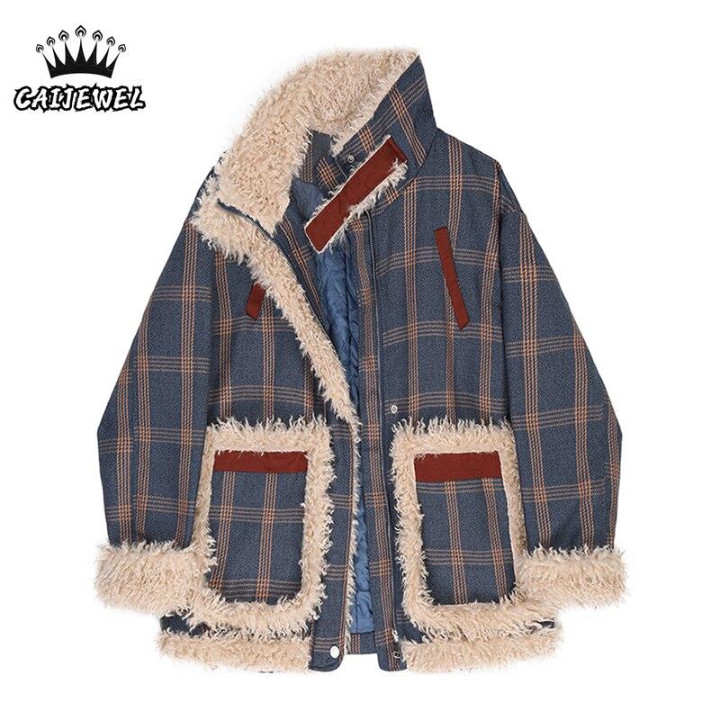Женские куртки, пальто, пальто, зимнее плотное теплое мешковатое пальто в Корейском стиле, модные дизайнерские женские топы, плюшевая куртк...