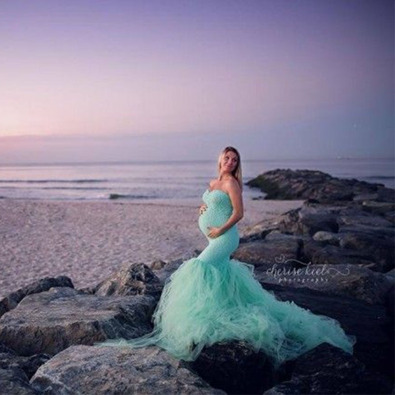 Long Sleeve Maternity Gown Lace Maxi Dress Pregnant Women Clothes Photography Pregnancy Dress Maternity Dresses For Photo Shoot enlarge