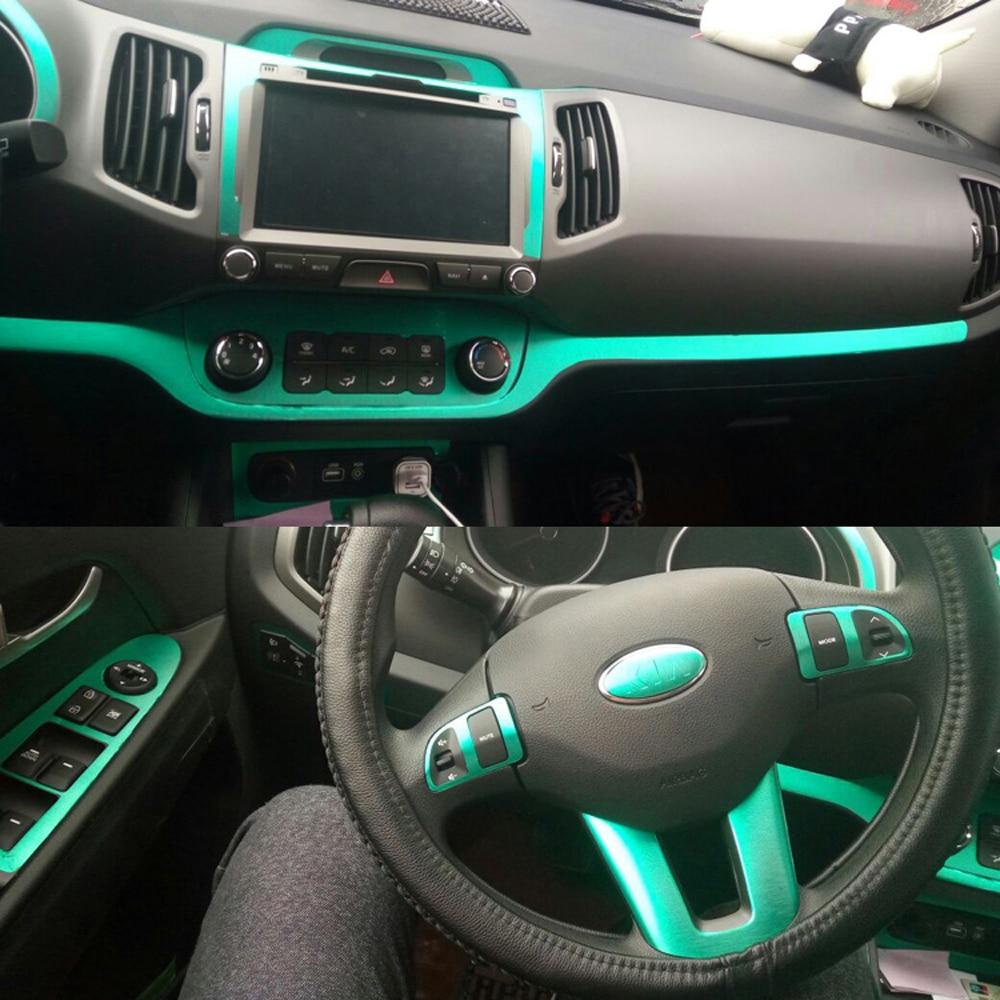 Car-Styling 3D 5D Carbon Fiber Car Interior Center Console Color Change Molding Sticker Decals For KIA Sportage R 2011-2017