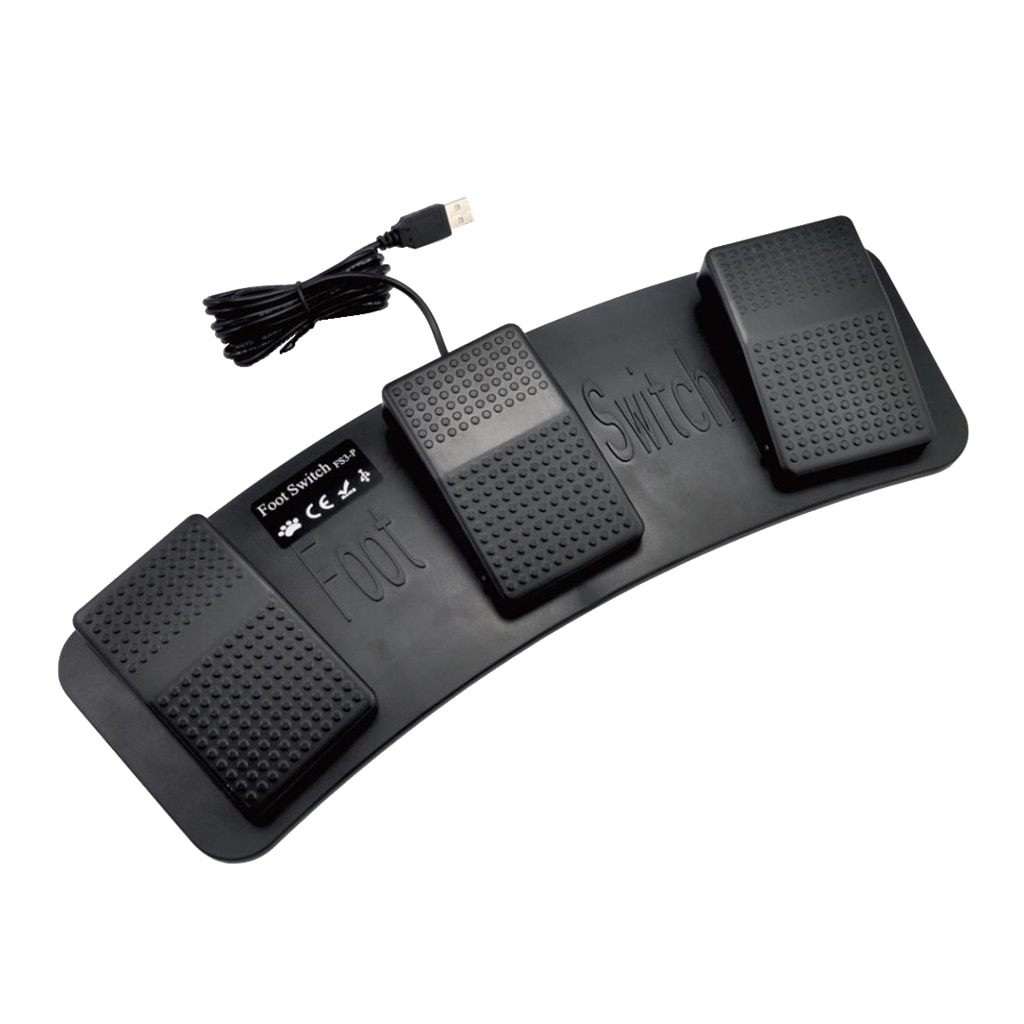 USB القدم دواسة التحكم التبديل لوحة المفاتيح ماوس لجهاز الكمبيوتر المحمول متعددة دواسات القدم المستخدمة في لعب ألعاب اختبار المصنع