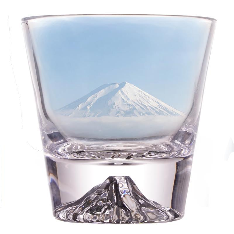 Creative Iceberg Design Whiskey Glass Bottom Raised Ice Mountain Rock Whisky Tumbler Gift Package Liquor Shot Glasses Wine Cup