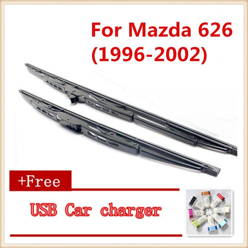 2 unids/lote escobilla limpiaparabrisas de coche para Mazda 626 (1996-2002)